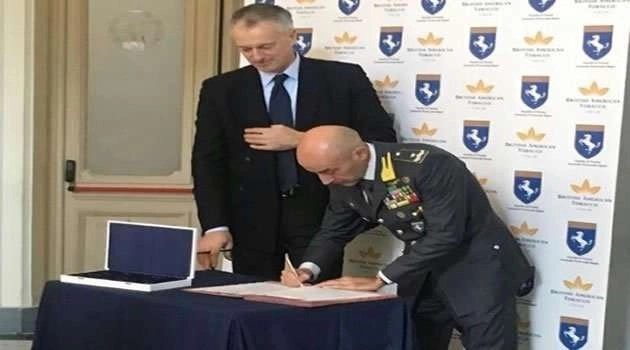 Firma accordo Guardia di Finanza - Bat Italia
