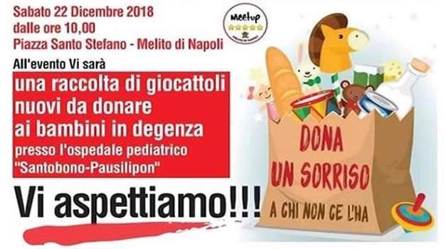 Melito. Il Meetup Melito 5 Stelle organizza un evento solidale in Piazza Santo Stefano