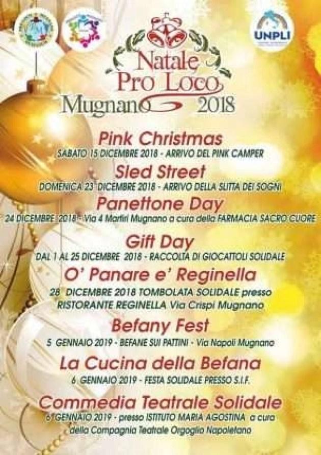 Natale Mugnano 2018 Pro Loco locandina
