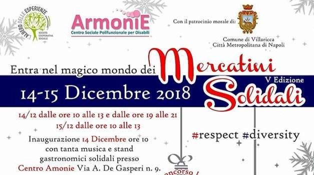 Villaricca, ritornano i mercatini di Natale di Armonie
