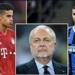Napoli attendista sul mercato: obiettivi restano James Rodriguez e Icardi