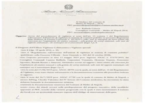 ANAC - Avviato procedimento di vigilanza sul progettato ampliamento cimiteriale