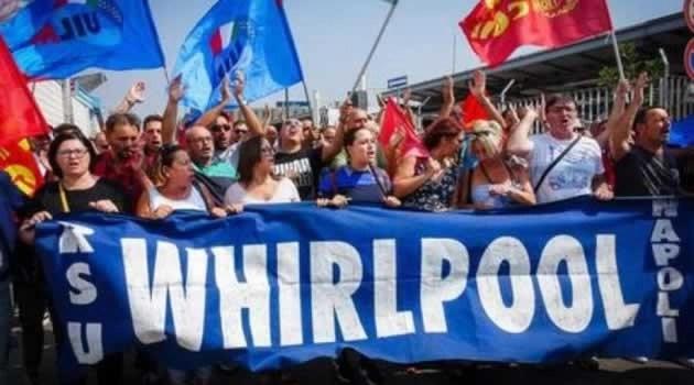 Whirlpool Napoli protesta
