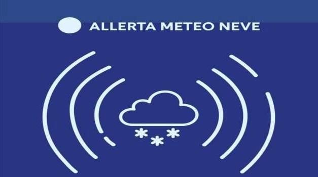 Allerta meteo per neve e raffiche di vento