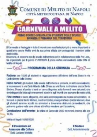Carnevale a Melito locandina