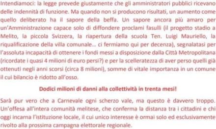 """Fratelli d'Italia Melito, """"l'aumento delle indennità è una porcata a danno dei melitesi"""""""