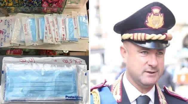 Sant'Antimo. La Polizia Locale sequestra ingente numero di mascherine