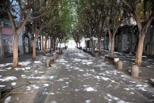Napoli deserta. Il messaggio del Sindaco De Magistris