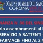 """Melito, farmacie a battenti chiusi il consigliere Costa: """"Incongruente ordinanza del Sindaco"""""""