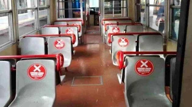 Campania, Fase 2: posti a sedere alternati nei mezzi pubblici
