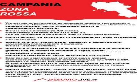 +++CAMPANIA ZONA ROSSA: LE REGOLE DA SEGUIRE+++