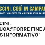 """Covid-19, vaccini. De Luca:""""Porre fine al caos informativo"""""""