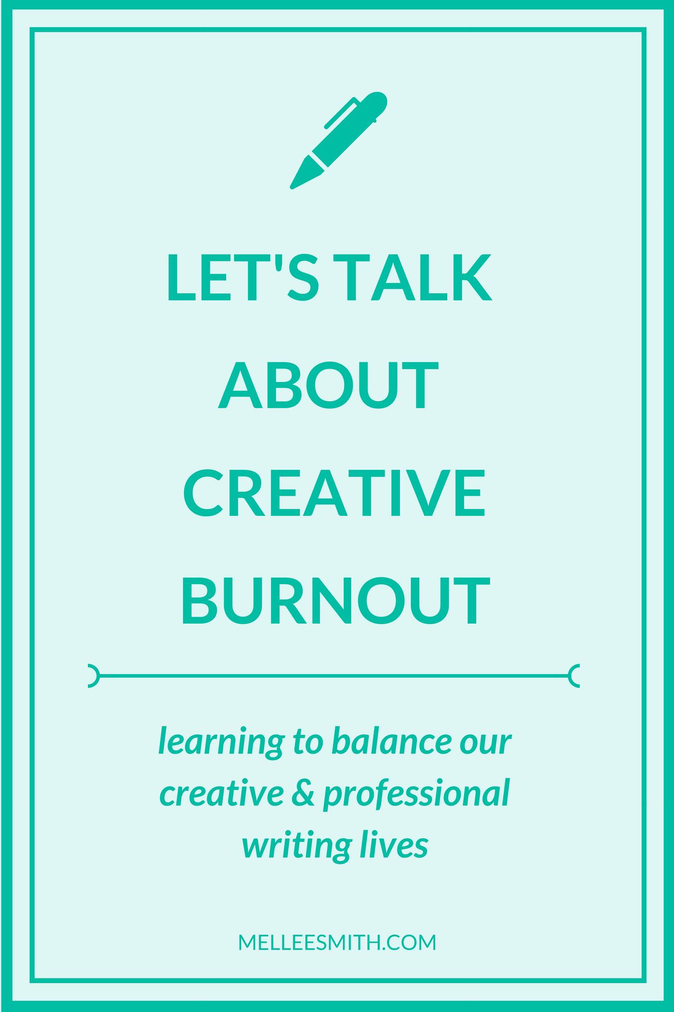 let's talk about creative burnout