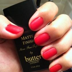 Butter London: Pillar Box Red + Matte Finish Topcoat