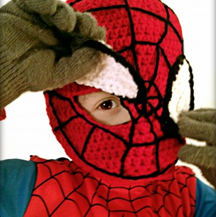 Crochet Spiderman Mask