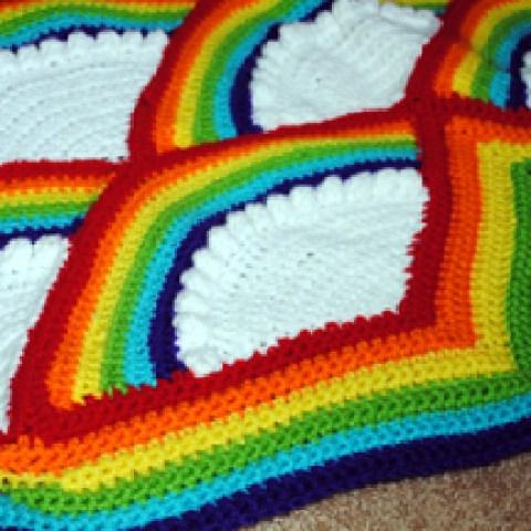 Crochet Rainbow Afghan