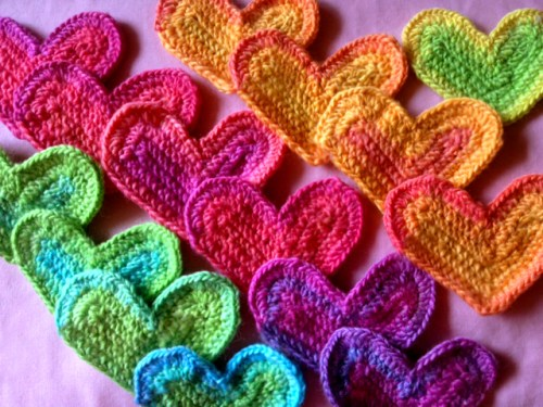 Little Hearts crochet scrapghan in KnitPicks Chroma