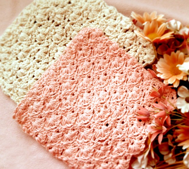 Crochet Flower Spring Washcloth