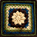 Crochet Hermit Block Square