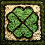 Crochet Shamrock Square