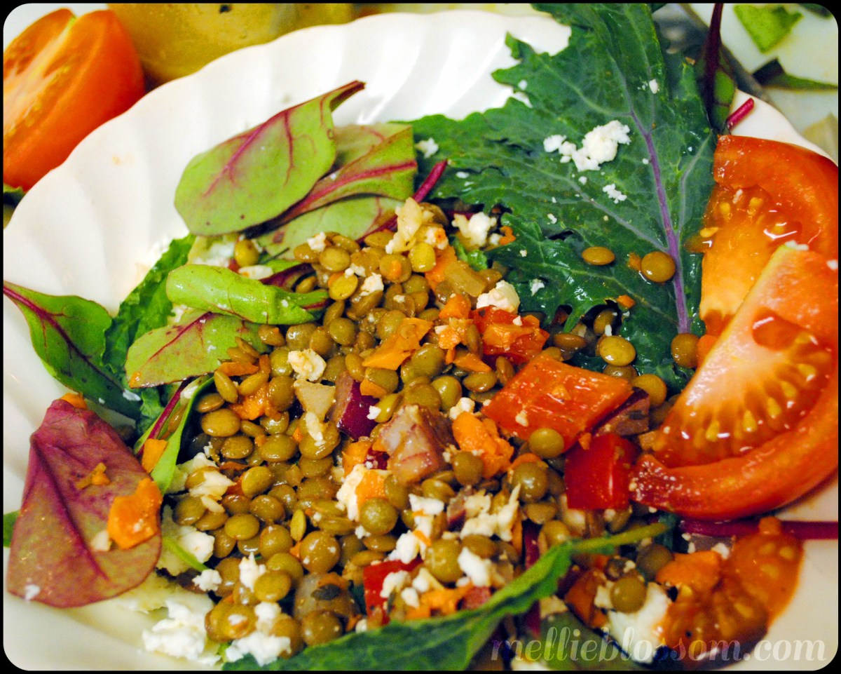 Lentil Salad with Tangy Garlic-Mustard Vinaigrette