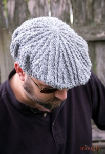 Crochet Gifts for Men - Men's Cabled Golf Hat