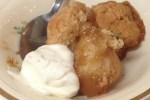 Old Fashioned Brown Sugar Dumplings with Vanilla Cream