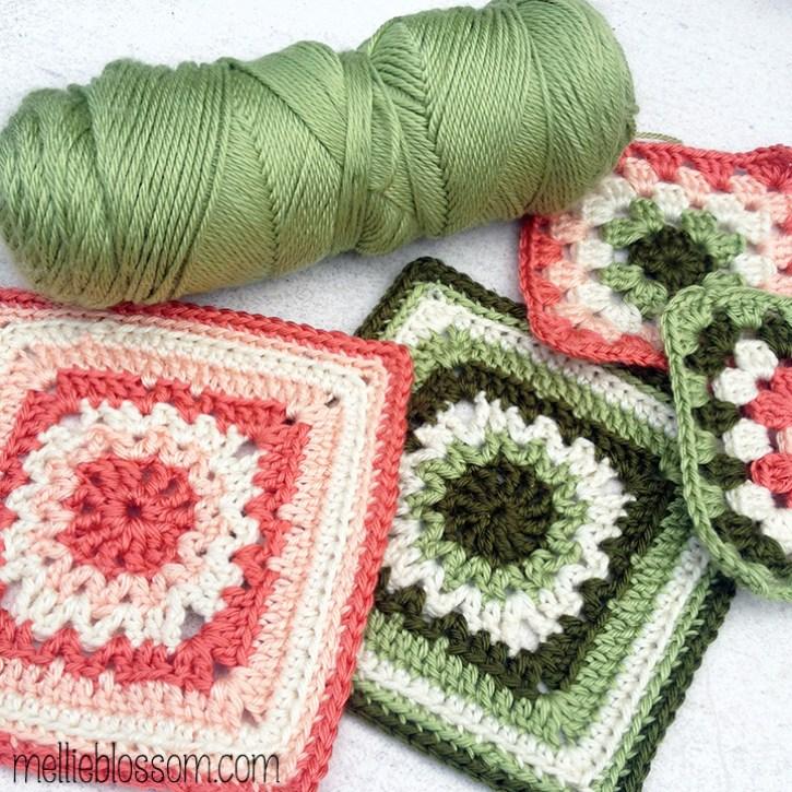 January Crochet Along Squares