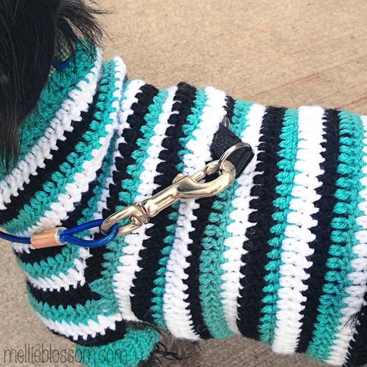Crochet Dog Sweater Mellie Blossom