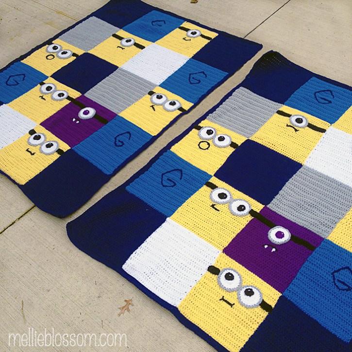 Crochet Minions Blanket - mellieblossom.com
