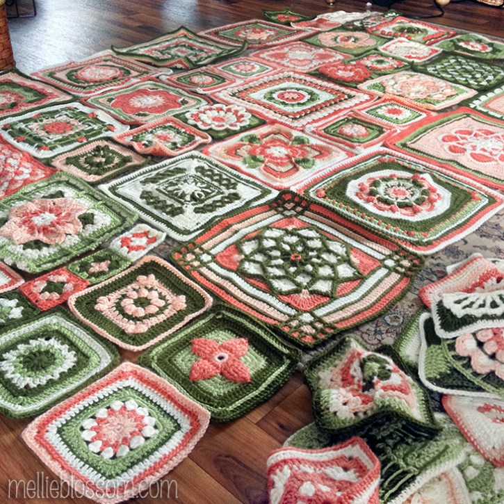 2015 Crochet Blanket Layout