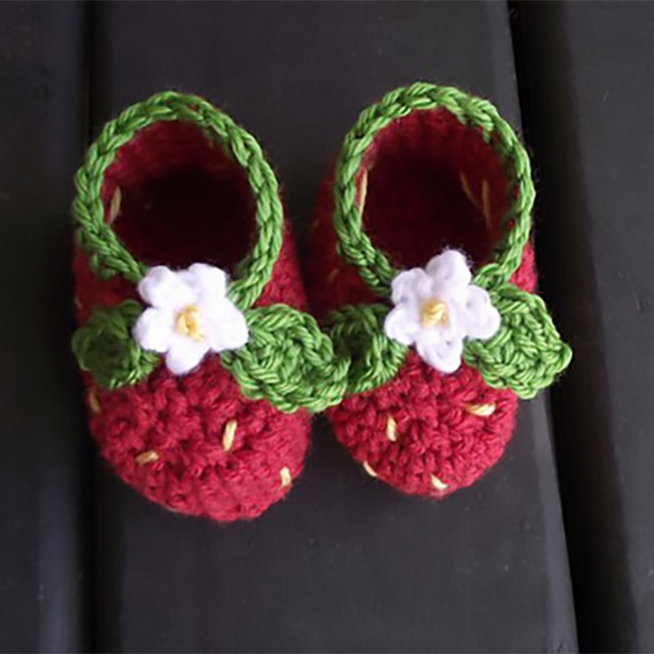 Strawberry Booties by Reba Jones