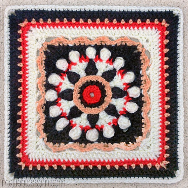 2016 Crochet Along Squares - Cha Cha Cha Square - mellieblossom.com