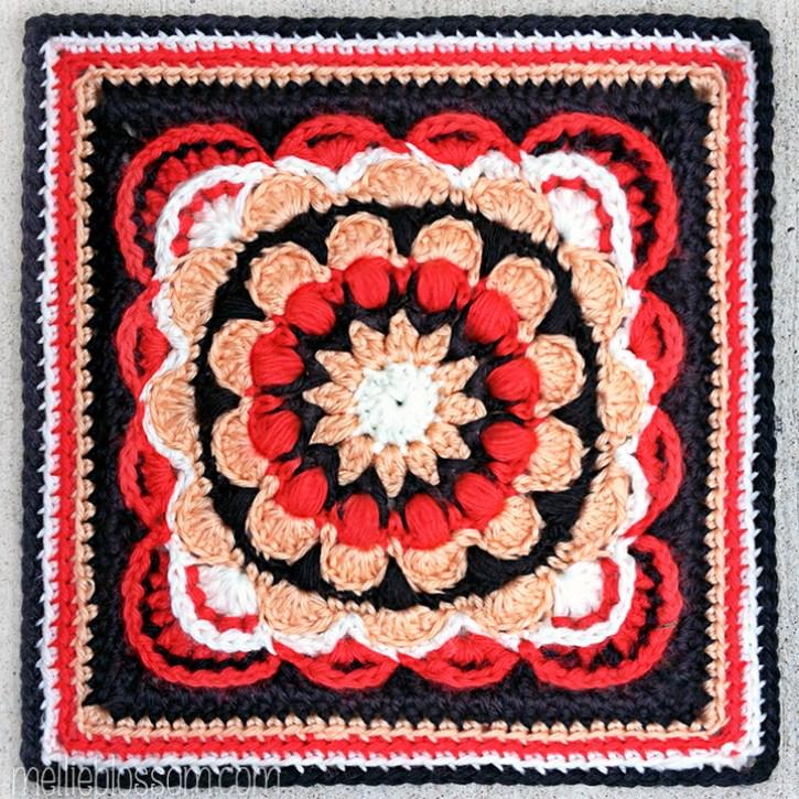2016 Crochet Along Squares - Fan Dance - mellieblossom.com
