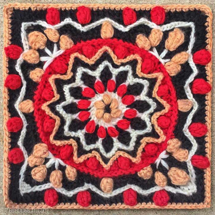 Rebirth Crochet Square - Crochet Along Square - mellieblossom.com