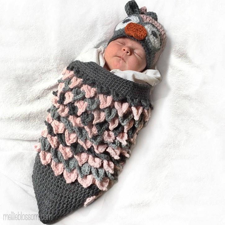 Crochet Owl Cocoon - mellieblossom.com