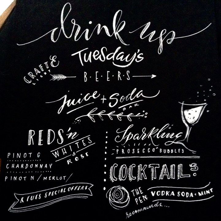 Hand lettered & Personalised Chalkboards by Mellor & Rose (cafes, restaurants & bars)
