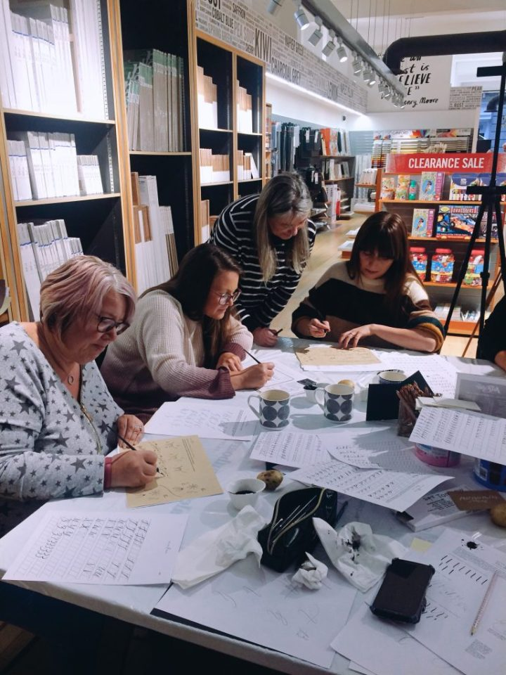 Beginners Modern Calligraphy & Introductory Brush Lettering workshops with Mellor and Rose