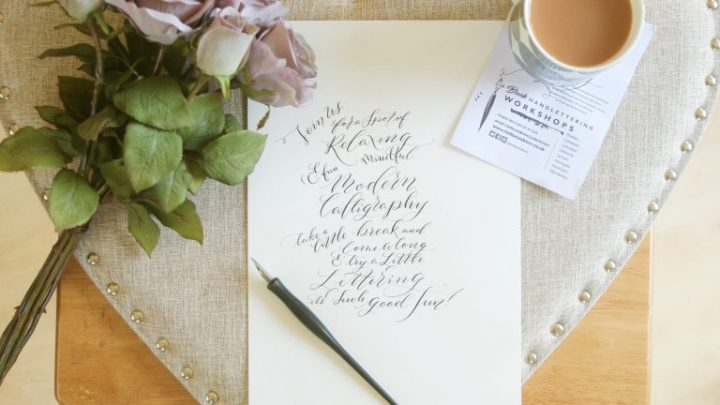 Hand lettering & Calligraphy workshops // Mindful Calligraphy with Mellor and Rose in Lancashire