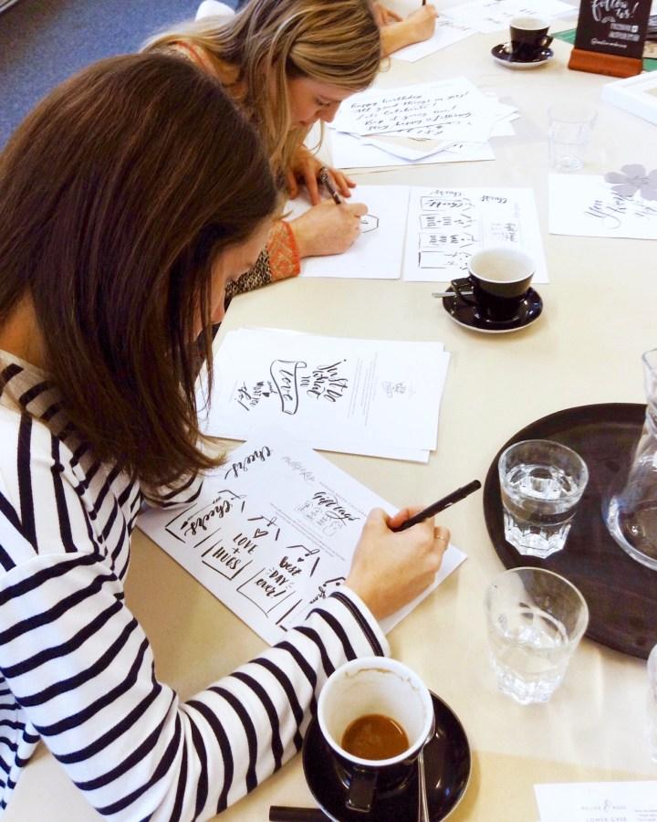 Brush Lettering workshop with Mellor & Rose