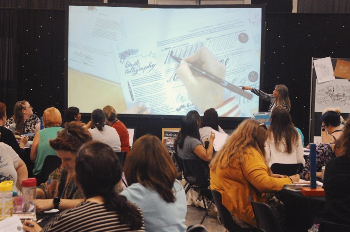 Brush Lettering workshop at PlannerFest 2019 in Manchester with Mellor and Rose Calligraphy Journal // Mellor & Rose