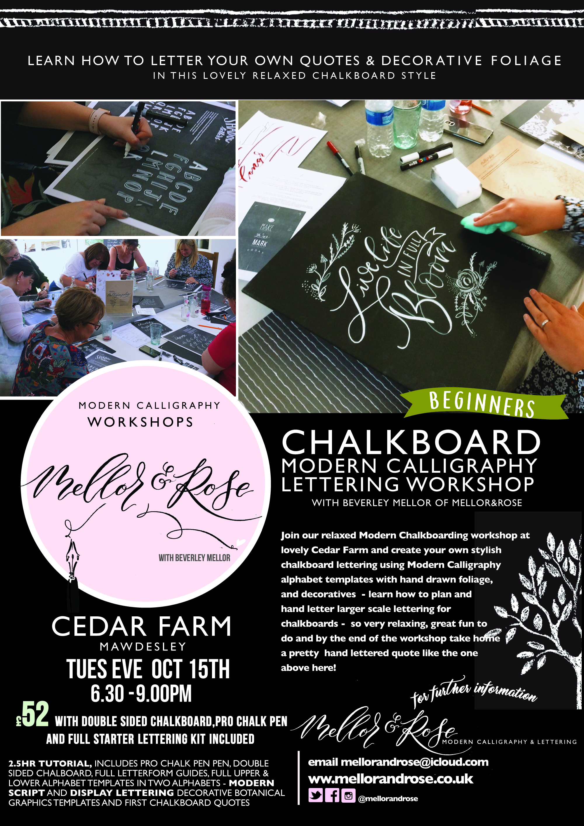 Chalk Lettering workshop with Mellor and Rose // Mellor & Rose Lancashire
