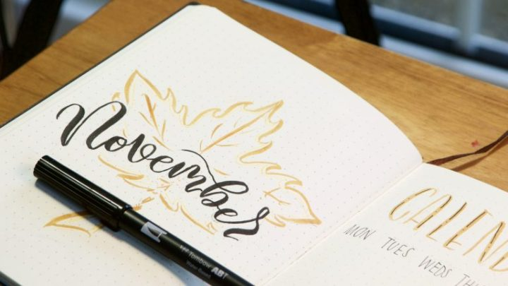 Plan with me - November style! Mellor & Rose Calligraphy Lancashire