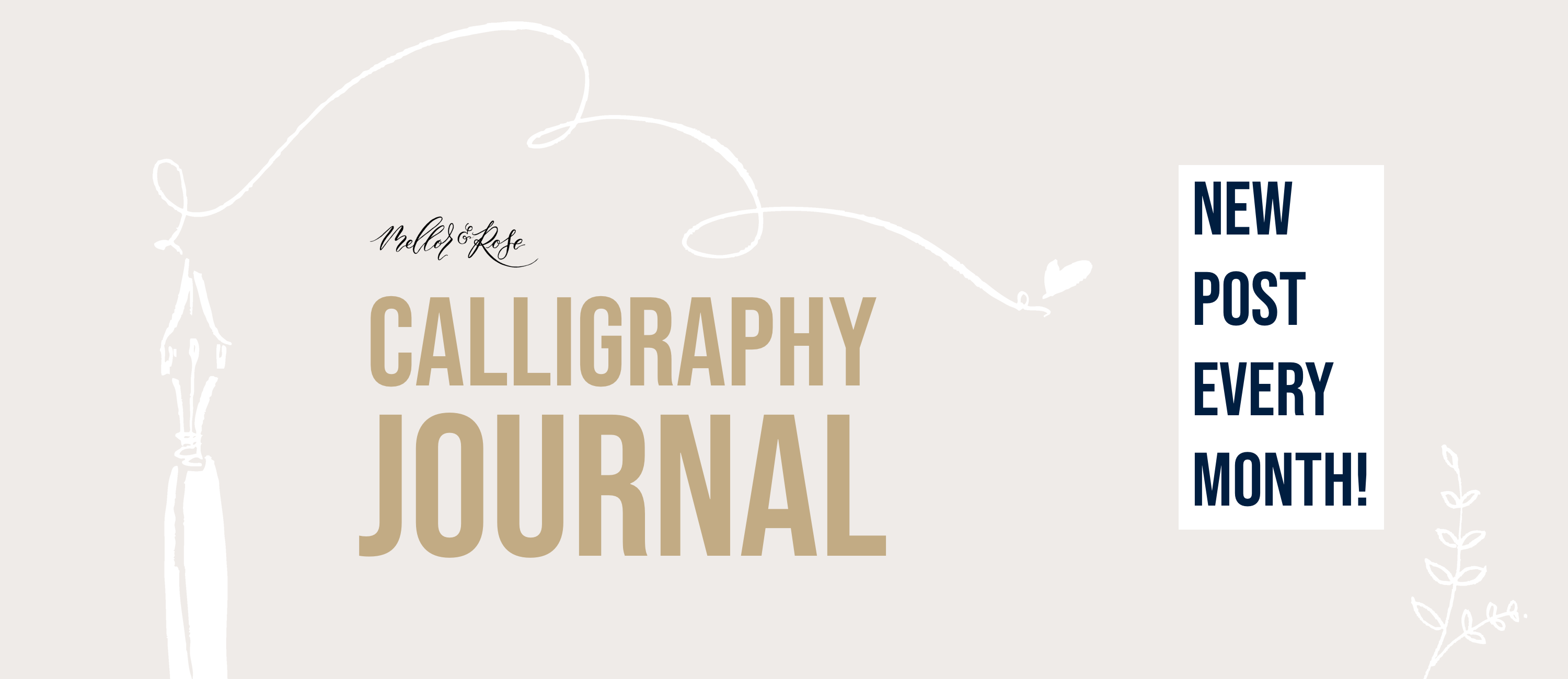 Mellor and Rose Calligraphy Journal