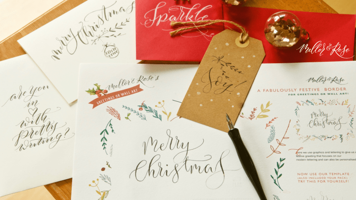 Christmas Calligraphy in Liverpool with Mellor & Rose
