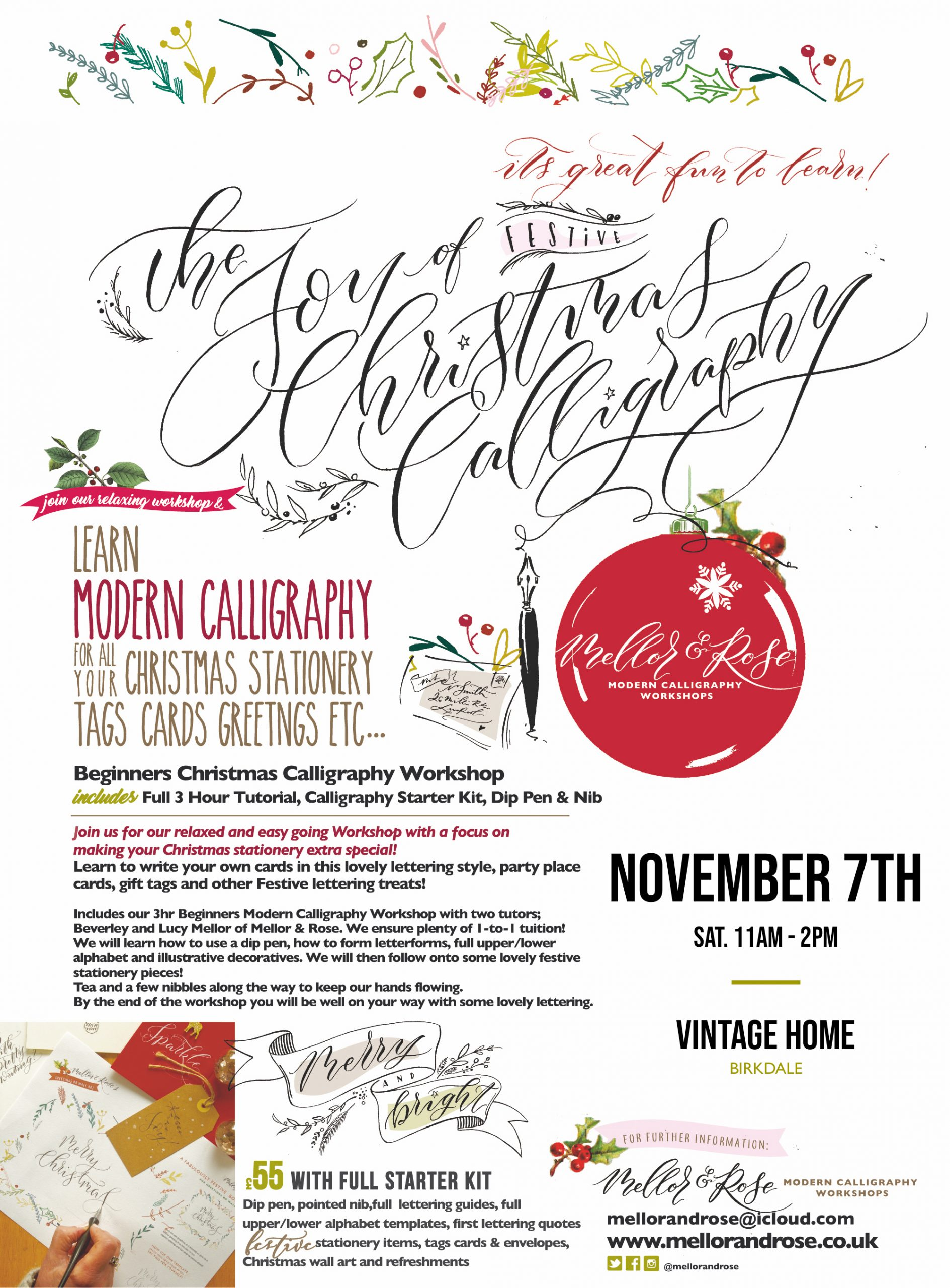 Christmas Calligraphy in Birkdale