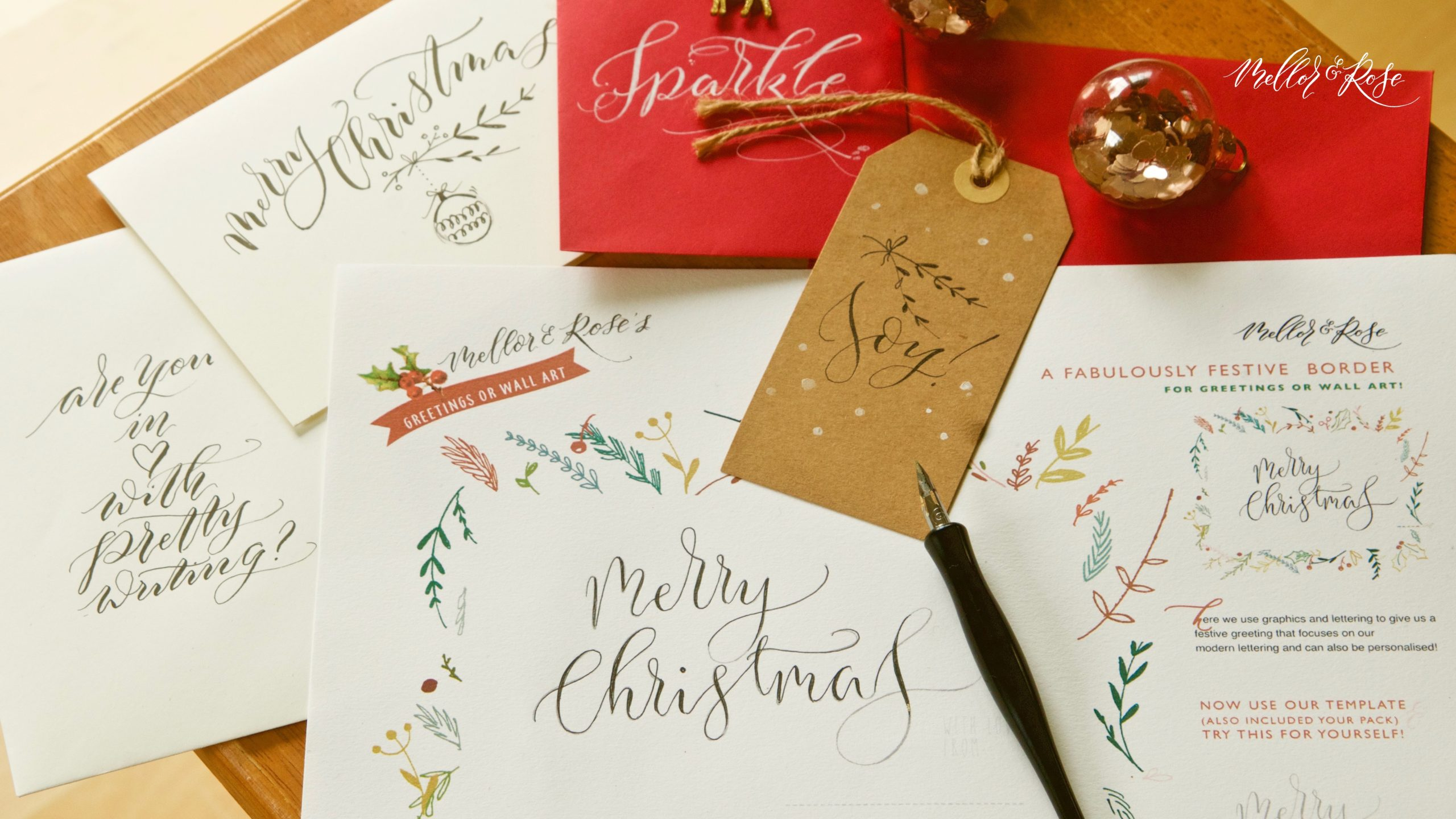 Lytham Hall - Mellor & Rose Christmas Calligraphy Workshop