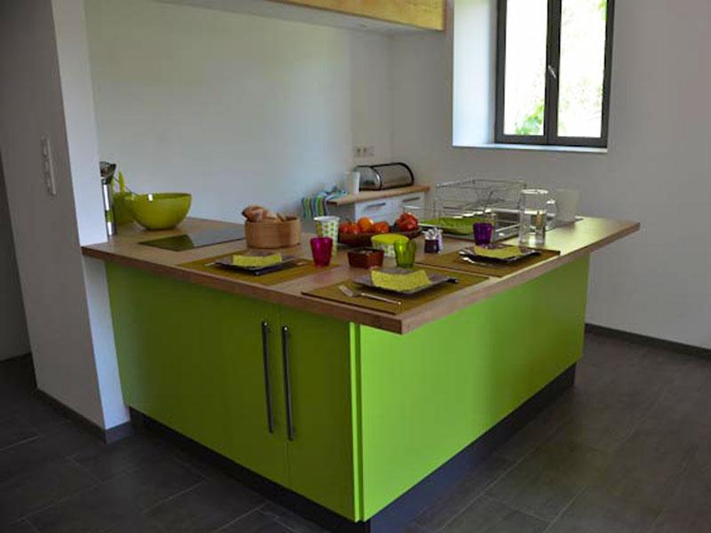 Meuble De Cuisine Vert Pomme Ide De Maison Et Dco