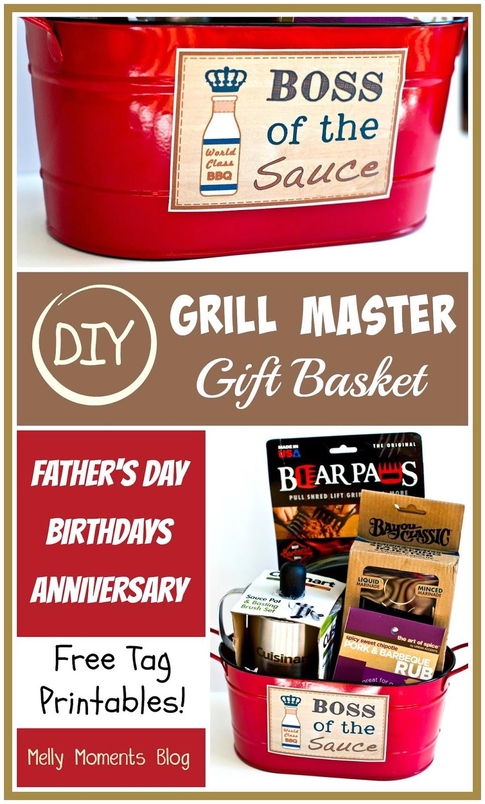DIY Gift Basket For Men Grill Master Edition