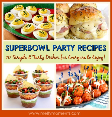 Superbowl Party: 10 Simple & Tasty Recipes